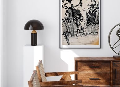 """Poster - """"Feet in the Water"""" Drawing Ink of China Limited Edition - L'ATELIER D'ANGES HEUREUX"""