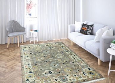 Classic carpets - Cheap Hand Knotted Direct From Factory Oushak Vintage and Antique Oshak Customizable Rugs Carpets 1 - INDIAN RUG GALLERY