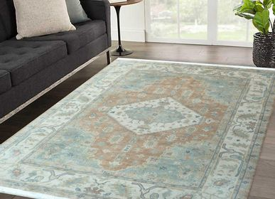 Tapis - Cheap Hand Knotted Direct From Manufacturer Christmas Sale Oushak Vintage and Antique Oshak Customizable Rugs Carpets 3 - INDIAN RUG GALLERY