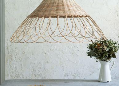 Objets de décoration - Rattan Lamp Scalloped - MAHE HOMEWARE