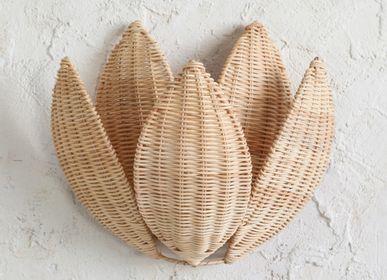 Decorative objects - Ratan Wall Lamp Lotto - MAHE HOMEWARE