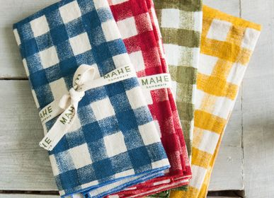 Table linen - Gingham placemats and napkins - MAHE HOMEWARE