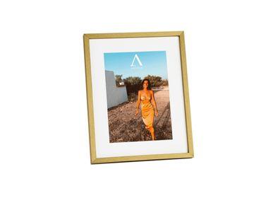 Cadres - GOLD MDF PHOTO FRAME 13X18 AX71524 - ANDREA HOUSE