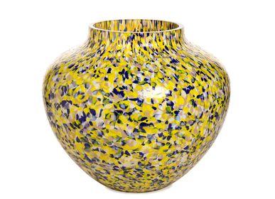 Vases - Vase Olla Macchia su Macchia jaune et bleu et violet Grand - STORIES OF ITALY