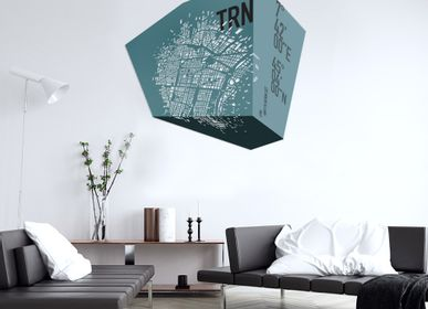 Other wall decoration - 3d leather map - FRANK&FRANK