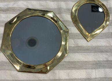 Mirrors - Lot de 3 miroirs artisanaux en cuivre  - MON SOUK FRANCE