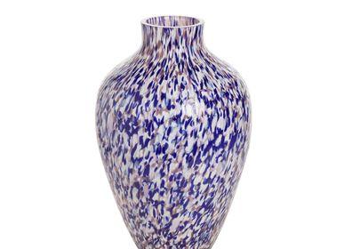 Vases - Vase Olla Macchia su Macchia violet et bleu et ivoire - STORIES OF ITALY