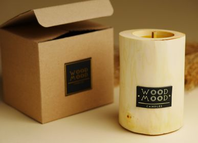 Gifts - SILKY S | Interior candle made of wood, beeswax and natural oils | Perfect gifting size - WOOD MOOD