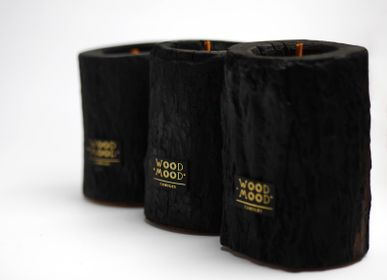 Gifts - VOLCANO M | Indoor candle in burnt wood, beeswax and natural oils - WOOD MOOD