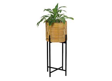 Flower pots - SYNTHETIC RATTAN/METAL PLANTER Ø30X77 AX71528 - ANDREA HOUSE