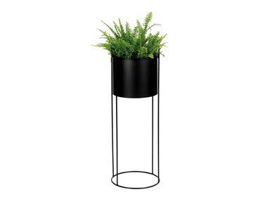 Flower pots - BLACK METAL PLANTER Ø28X80 AX71530 - ANDREA HOUSE