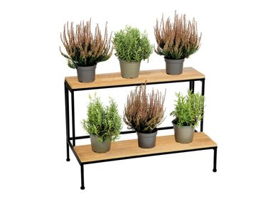 Flower pots - WOOD/METAL FLOWER STAND 75X40X49 AX71531 - ANDREA HOUSE