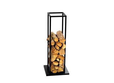 Outdoor fireplaces - BLACK METAL FIREWOOD RACK 33X33X85 AX71532 - ANDREA HOUSE