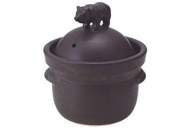 Stew pots - ceramic stew pot with bear - ONENESS
