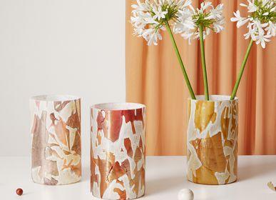 Vases - Vase haut rouge doré Nougat - STORIES OF ITALY