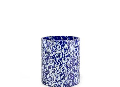 Vases - Vase Macchia su Macchia ivoire et bleu moyen - STORIES OF ITALY