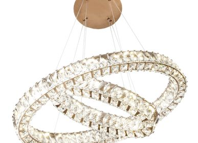 Ceiling lights - Giness Twin Oval Crystal Ceiling Pendant - RV  ASTLEY LTD
