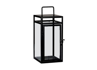 Decorative objects - BLACK METAL LANTERN 15X15X35 AX71534 - ANDREA HOUSE