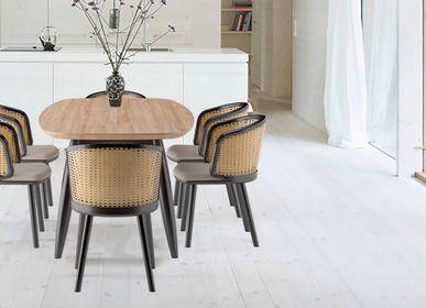 Tables Salle à Manger - Table de salle à manger rétro moderne Nova en bois massif de Mindy 100% naturel - ASINDO LIMITED - EZEÏS