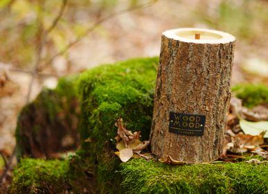 Cadeaux - ROCKY M | Bougie intérieure en bois, cire d'abeille et huiles naturelles - WOOD MOOD