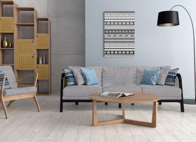Tables basses - Table basse Retro Modern Oslo en bois massif Sungkai 100% naturel et placage de chêne massif avec une finition mate naturelle - EZEIS