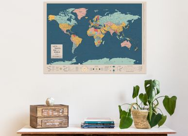 Other wall decoration - Woody Map Poster - MISS WOOD