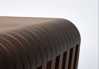 REDA AMALOU DESIGN - WALNUT LINK STOOL