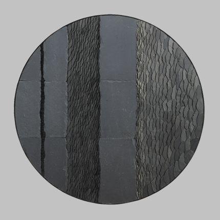 Pièces uniques - cercle en ardoise  - SYLVIE GUYOMARD