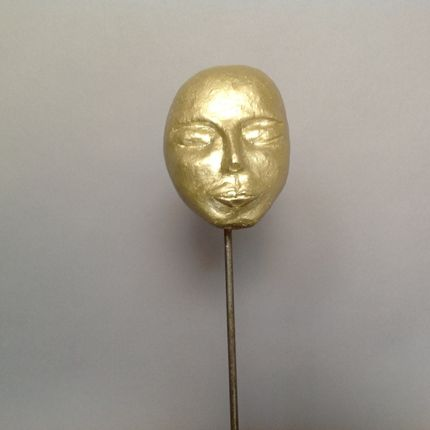 Sculpture - head statue gold with big ears  - VAN DER OEST STYLE