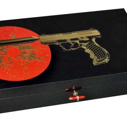 """Objets de décoration - Coffret pour 110 cigares - Collection """"Secret Agent"""" - ELIE BLEU"""