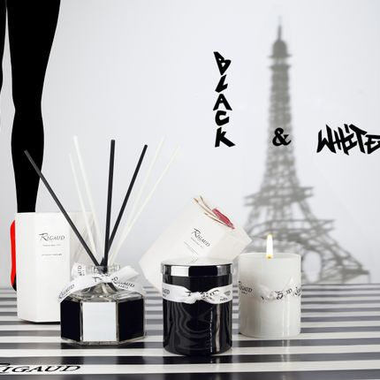 Candles - La collection Black & White de Rigaud - BOUGIES RIGAUD