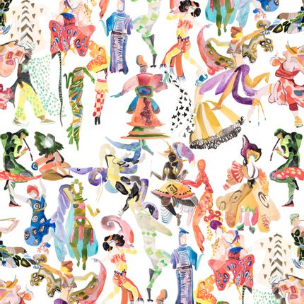 Papiers peints - Ballets Russes Wallpaper - VOUTSA