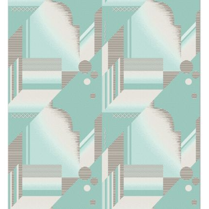 Contemporary - Art Deco_Blue Sky - KNOTS RUGS
