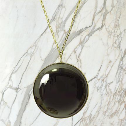 Chambres d'hotels - Eclipse Black Convex Mirror - MARTIN HUXFORD STUDIO