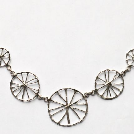 Jewelry - assorted wheels silver necklace - TOULHOAT