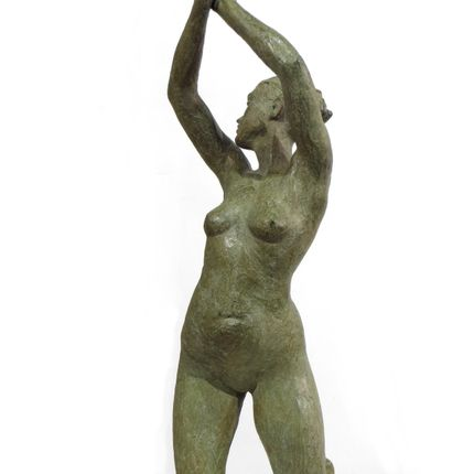 Sculpture - Flamme sculpture figurative en bronze hauteur 62 cm .  - POTHIN GALLARD CRÉATION BRONZE