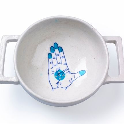 Kitchen utensils - Blue Pottery Colander - IMPERFECT DESIGN