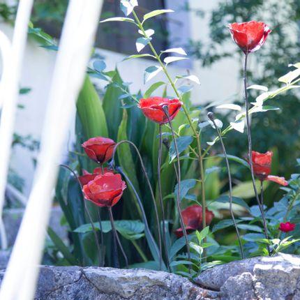 Decorative accessories - Coquelicot rouge et bouton - ARROSOIR & PERSIL