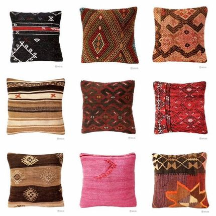 Coussins - Handmade Oriental Turkish Kilim, Ikat and Suzani Pillow - ÖZMELEK HALI KILIM
