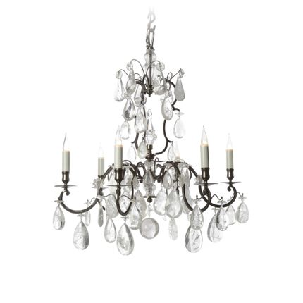 Decorative objects - Chandelier 6 lights - BAGUES-BRONZES DE FRANCE