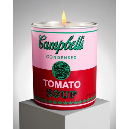 "Gift - Andy WARHOL bougie parfumée ""Campbell"" - LIGNE BLANCHE PARIS"