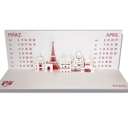 """Stationery store - Pop-up calendar """"Metropol"""" - RIFLETTO FILIGRANES AUS PAPIER"""