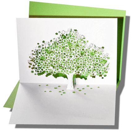 Stationery / Card shop / Writing - Pop-up card - RIFLETTO FILIGRANES AUS PAPIER