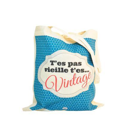 Bags / totes - Tote bag t'es pas vieille t'es vintage - DODO & CATH