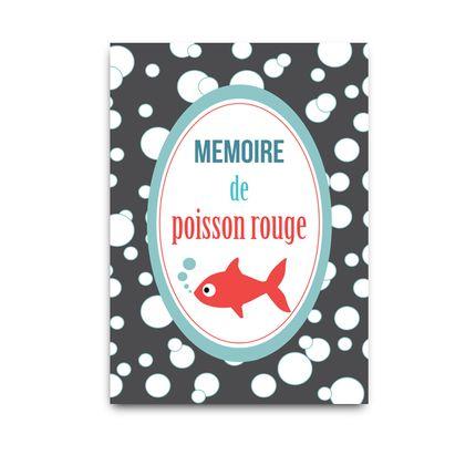 Stationery / Card shop / Writing - Carte postale: mémoire de poisson rouge - DODO & CATH
