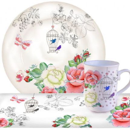 """Formal plates - Dessert plate, cup cake and lunch dish """"The cage"""" - CLAUDIE FRANEL DESIGN"""