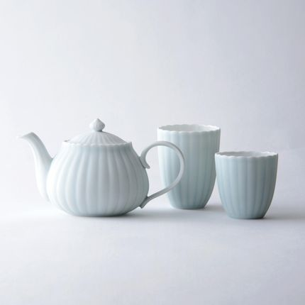 Tea / coffee accessories - Celadon and White Cup Large - HATAMAN