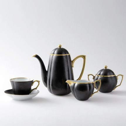 Tea / coffee accessories - Cuir design coffee cup & saucer - HATAMAN