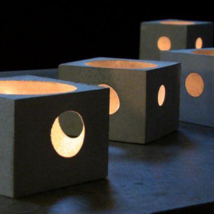 Design objects - Petit photophore de béton - GRAVVE