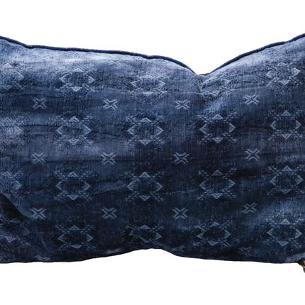 Cushions - CUSHION  JACQUARD SPRAY & DYE INDIGO - MAISON DE VACANCES